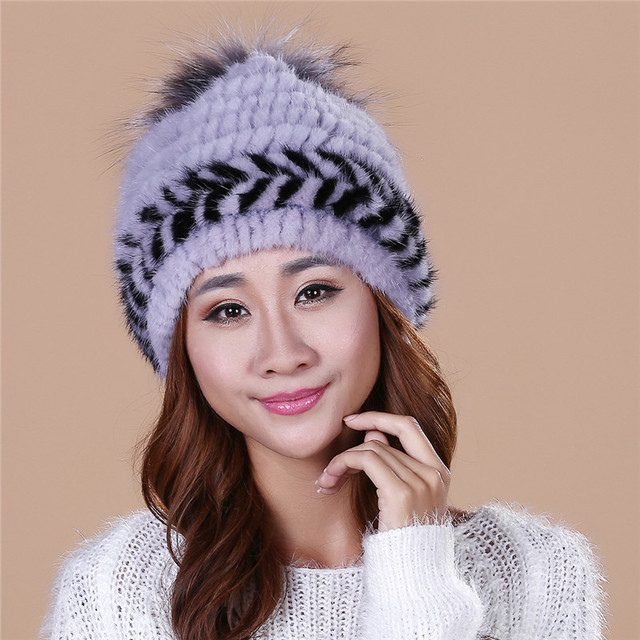 New Fashion 2016  autumn and winter mink leather hat children winter warm hat dome cap free shipping/5Color.#SD9