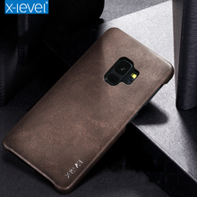 X Level Vintage PU Leather Case for Samsung Galaxy S9 S9Plus