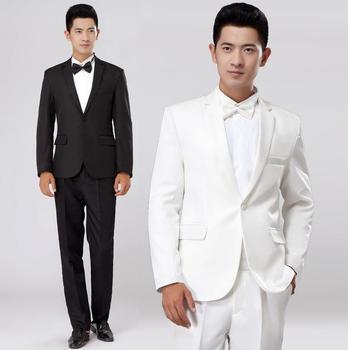 Black white mens suit 2020 new arrival men slim fit suits mens wedding groom latest coat pant designs men suit + pant + tie