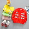2017 novos desgaste das crianças das crianças longa-cardigan de mangas compridas letras moda bordados Taobao lote das crianças quentes