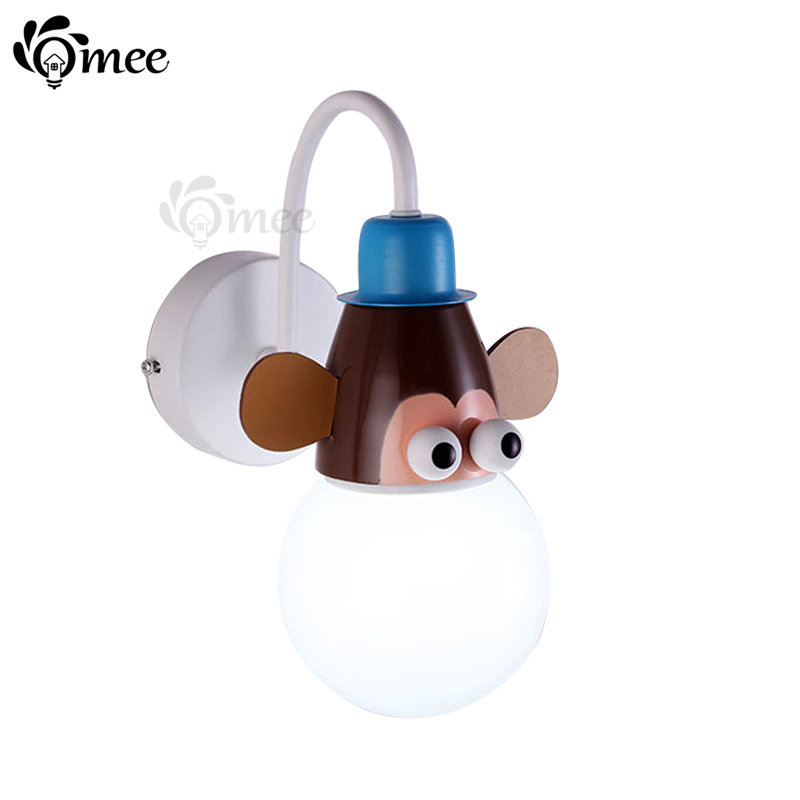 Childrens Novelty Light Fittings : Cartoon Kid Wall Lamp LED Children Wall Light Child Bedroom Lighting Novelty Animal Cartoon ...