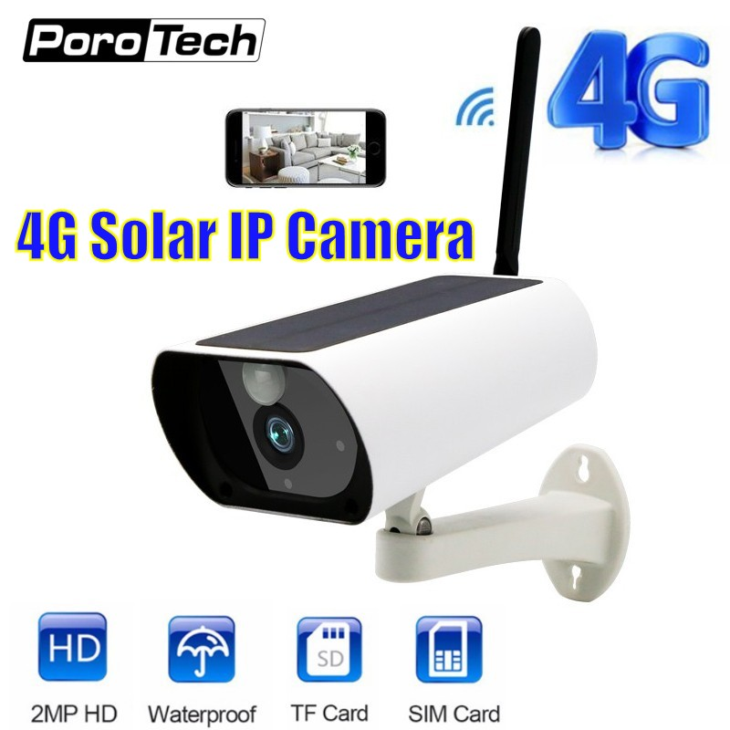 4G Solar Powered 1080P Bullet IP Camera Y9 Waterproof Outdoor Security Cctv Camera With Night Vision Motion Detection