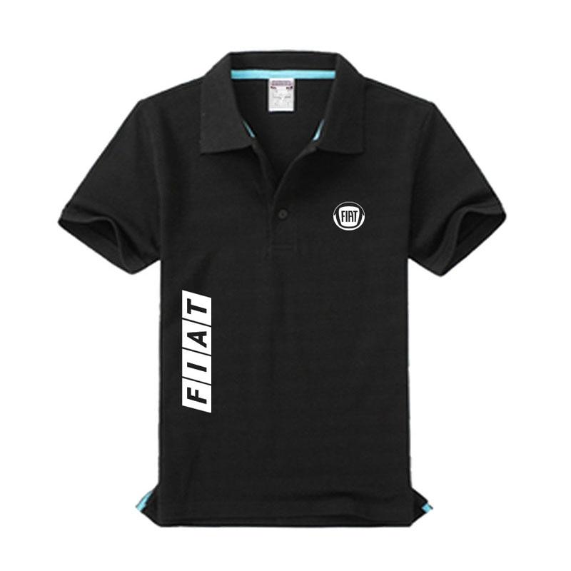 Fiat logo men's fashion casual men's   Polo   shirt solid color casual   Polo   shirt