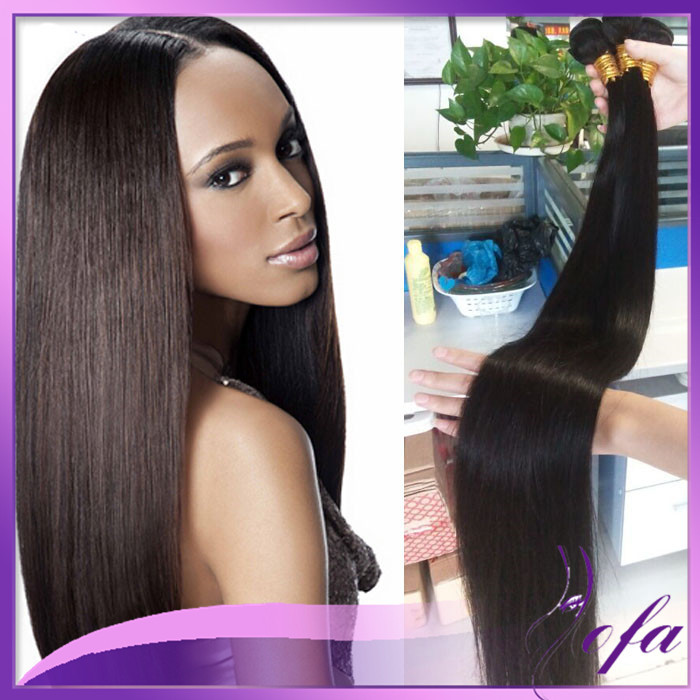 7A Straight Silky Human Hair Weave Brazilian Virgin Hair