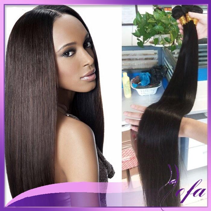7a Straight Silky Human Hair Weave Brazilian Virgin Hair 32 34 36 38