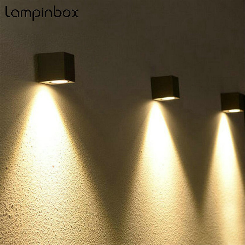 Modern Simple LED Wall Lamp Outdoor Indoor Wall Lights Garden Porch Lighting COB Wall Light Fixture IP65 Waterproof Lamps LP-008 outdoor waterproof ip65 wall lamp modern led wall light indoor sconce decorative lighting porch garden lights wall lamps