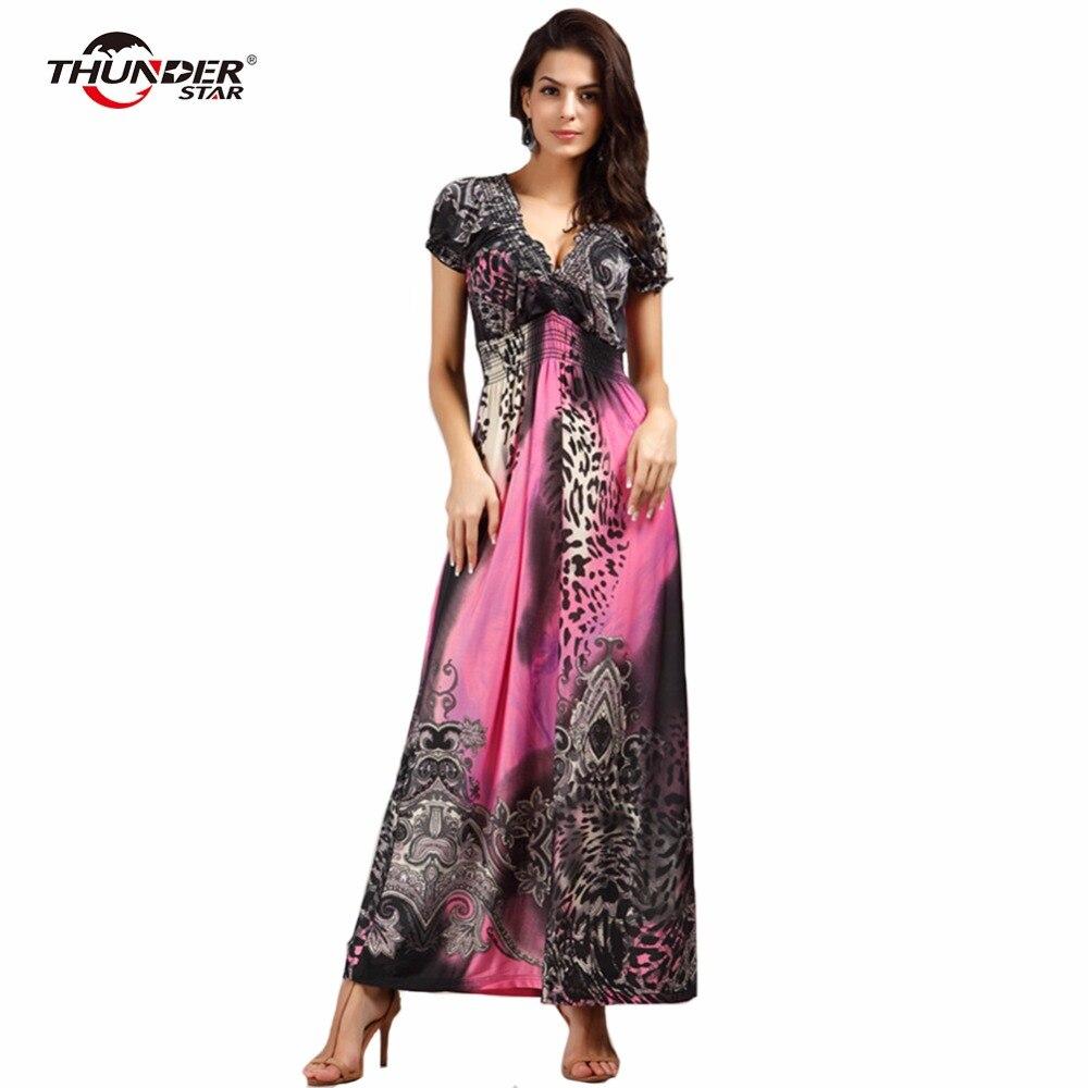 2a85447fe90531b Гром STAR летнее платье Бохо в этническом стиле; пикантные, с принтом в  стиле ретро