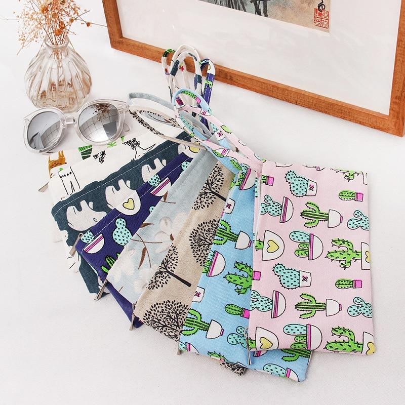 2017 Lady Original Fabric Creative Coin Purse Bag Key Bag Mobile Phone Bag Art Animal Plants Prints Coin Bag 11*20 Cm pouch animob a08 119 women s cat pattern pu coin purse mobile phone bag cosmetic bag deep pink