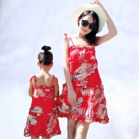 2019 Summer Mother Daughter Dresses family dress match match swimwear mom's Beach Dress Family Matching outfits