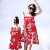 2019 Summer Mother Daughter Dresses family dress match match swimwear mom's Beach Dress Family Matching outfits