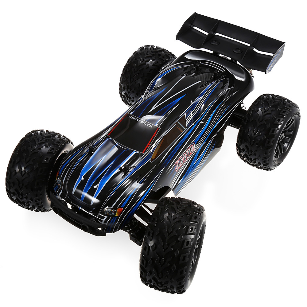 100km/h JLB Racing 21101 Off-road <font><b>RC</b></font> <font><b>Car</b></font> 2-Channels 1:10 4WD Brushless <font><b>Motor</b></font> <font><b>Car</b></font> Racing Truck Shock-resistant Remote Control Toy image