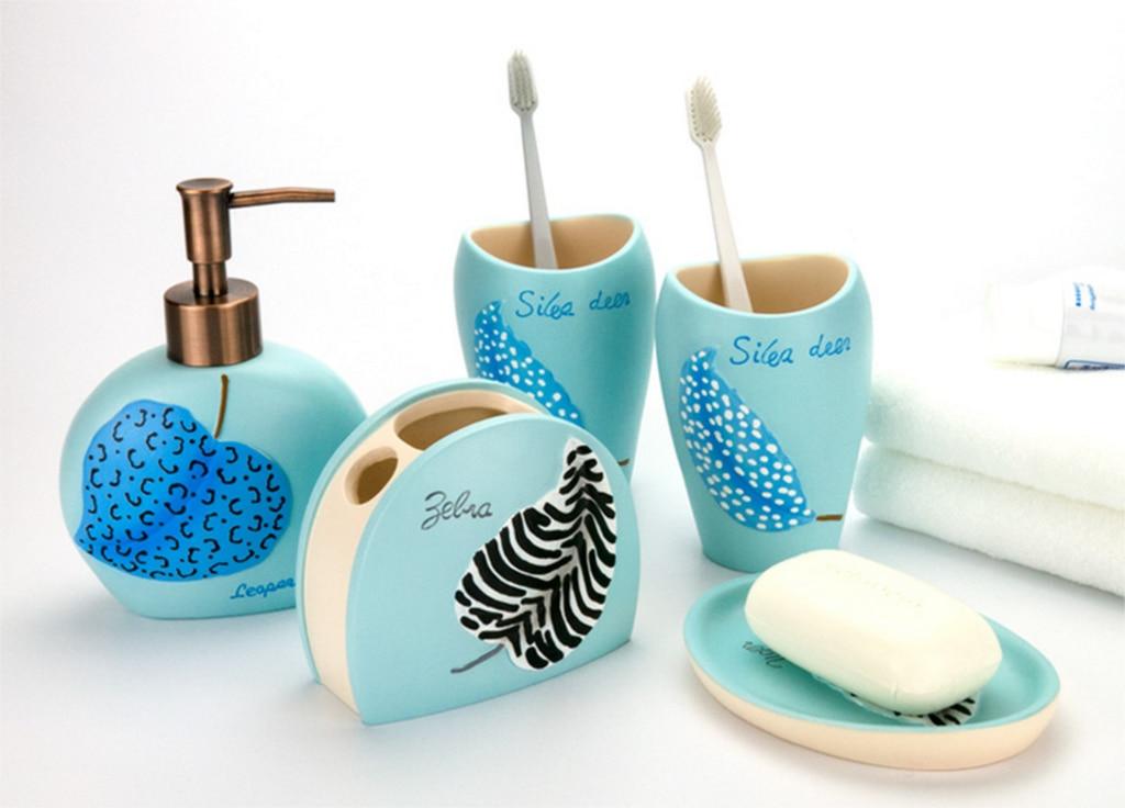 Ensemble d'accessoires de salle de bain en résine norbique porte-savon Portable/distributeurs de savon/porte-dentifrice brosse à dents produits de salle de bains slfb294