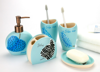 Norbic Resin Bathroom Accessories Set Portable Soap Dishes/Soap Dispensers/Toothbrush Toothpaste Holders Bathroom ProductsLFB294