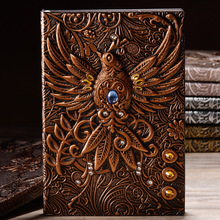European Retro Notebook Custom Imitation Leather Embossed Phoenix Creative Personalized Gift Traveler Diary Book New