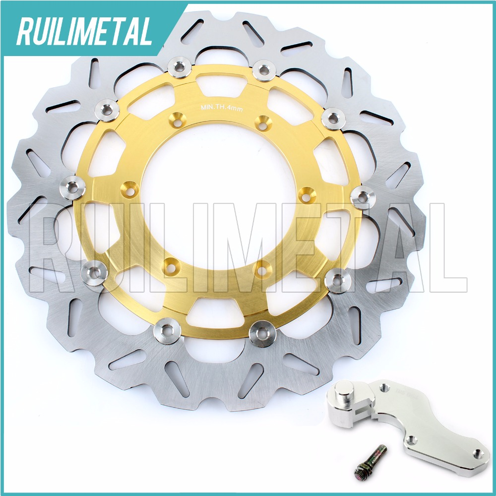 320mm oversize Front Brake Disc Rotor Bracket Adaptor for SUZUKI RM 125 250 DRZ 400 S E SV SM (Italy) 125 2005 2006 05 06 fit for rm 125 00 09 rm250 00 01 02 03 04 05 06 07 08 09 10 11 12 front rear brake disc rotor bracket bracket oversize 320mm