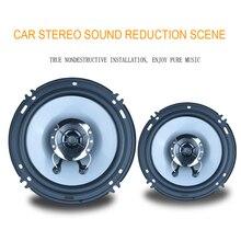 """Universal 4ohm 6 """"60 W Max 2 Forma Del Coche Puerta Del Vehículo SubWoofer Coaxial Auto Audio Música Estéreo de Doble Cono altavoces"""