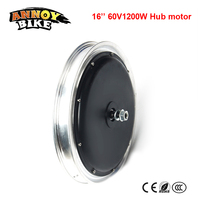 16inch 60v 1200W E bike Motor Electric Scooter Brushless Speed Up Hub Motor Wheel High Power DIY Electric Motorcycle Brush less