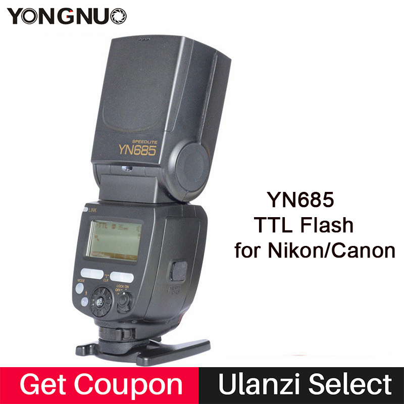 YONGNUO YN685C YN685N Wireless TTL Flash Speedlite System HSS 1/8000S Radio Slave YN685 for Canon EOS 750D Nikon D3300 D5300