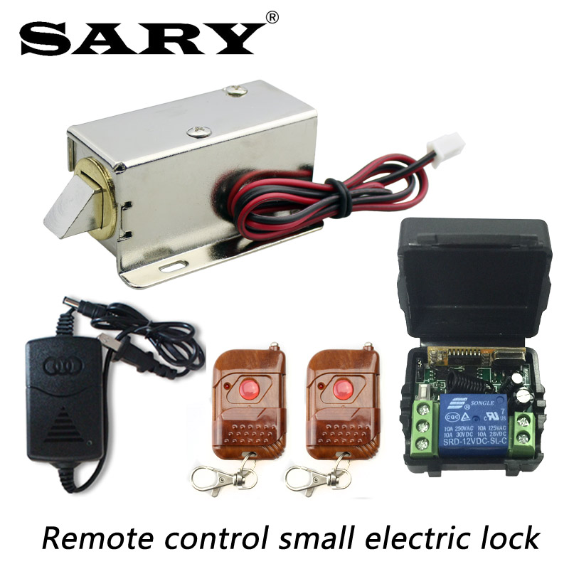 Infrared Remote Control Electric Lock Wireless Remote Control Switch Electric Plug Lock DC12V Remote Control Electric Lock Set