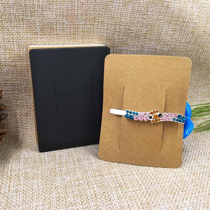 Wholesale-Free-Shipping-Hair-Clip-Card-White-Black-Kraft1lot-100-pcs7x9cm-DIY-Hair-Band-Card-New (1)