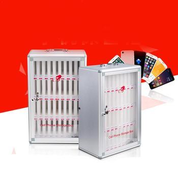 2019 najnowszy przenośny ze stopu aluminium ze stopu aluminium organizer z kieszonkami szafka do przechowywania do telefonów komórkowych do przechowywania sejf zawiera do telefonów komórkowych tanie i dobre opinie Aluminum Alloy Pocket Chart Storage Cabinet Rondaful Inne