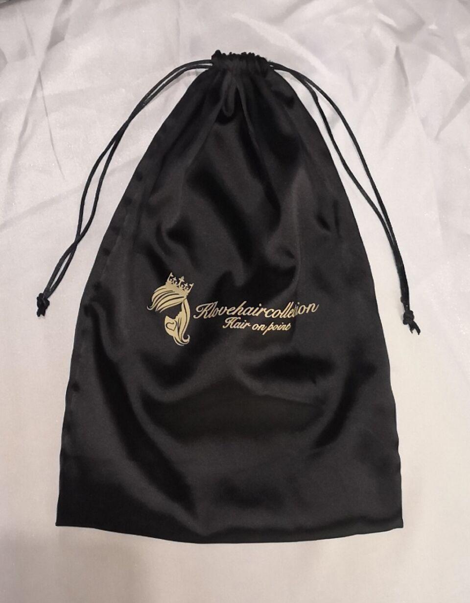 mimi papoose - The black satin bag,with one color logo printed,20x40cm,60pcs недорго, оригинальная цена