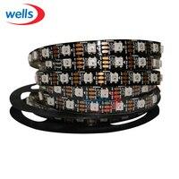 50 м 10X5 м 60 пикс./м индивидуально адресуемых WS2812B WS2811 5050 RGB Светодиодные ленты 5 В белый/черный водонепроницаемый
