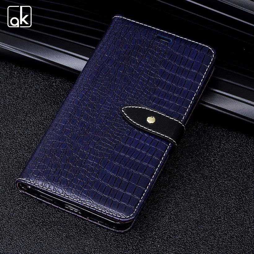 Galleria fotografica AKABEILA PU Leather Case For iPhone 6 Plus 6S Plus Phone Case iPhone6Plus iPhone6SPlus Crocodile Pattern Wallet Card Holster