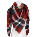 Za Winter Scarf 2016 Brand triangle Tartan Cashmere Scarf Women Wool Plaid Blanket Scarf Pashmina Wrap Shawls and Scarves Hijab