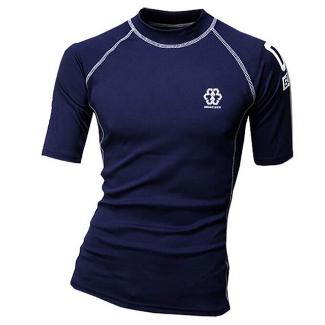 2016 movimento de fitness t camisa homens camisa de compressão calças justas mens singlets gymshark musculação clothing tshirt homme