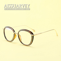 Women Fashion Eyeglasses Frame Cute Optical Eyewear Myopia Pink Clear Lenses Vintage Retro Glasses Frame Reading