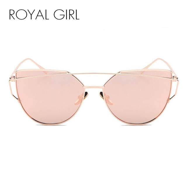 8153e7b06c placeholder ROYAL GIRL NEW Brand Design Cat Eye Sunglasses Women Metal Frame  Flat Double Bridge Sun glasses