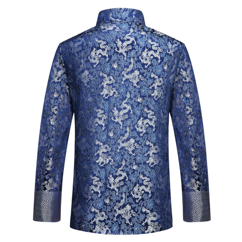 Ethnique Veste Homme Broderie Manteau Bouton traditionnelle chinoise Casual Outwear New