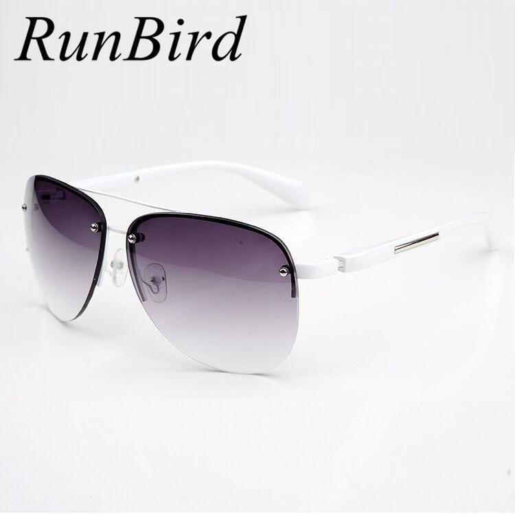 2017 diseñador de moda de metal sin montura gafas de sol mujeres hombres marca gafas de sol de conducción de calidad superior gafas de sol feminino r045