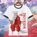 Новый Inuyasha Sesshoumaru Косплей футболки Аниме футболки Случайные Люди студенческие топы