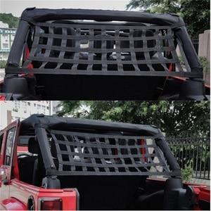 Image 4 - Car Auto Hammocks Bed Cargo Net Roof Rack Luggage Cargo Net For Jeep Wrangler JK 07 18