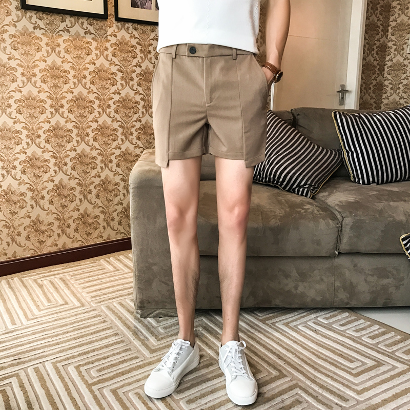 4 Colors Solid Men Shorts Black Grey Khaki Green Shortshombre Casual 2018 Mens Summer Sh ...