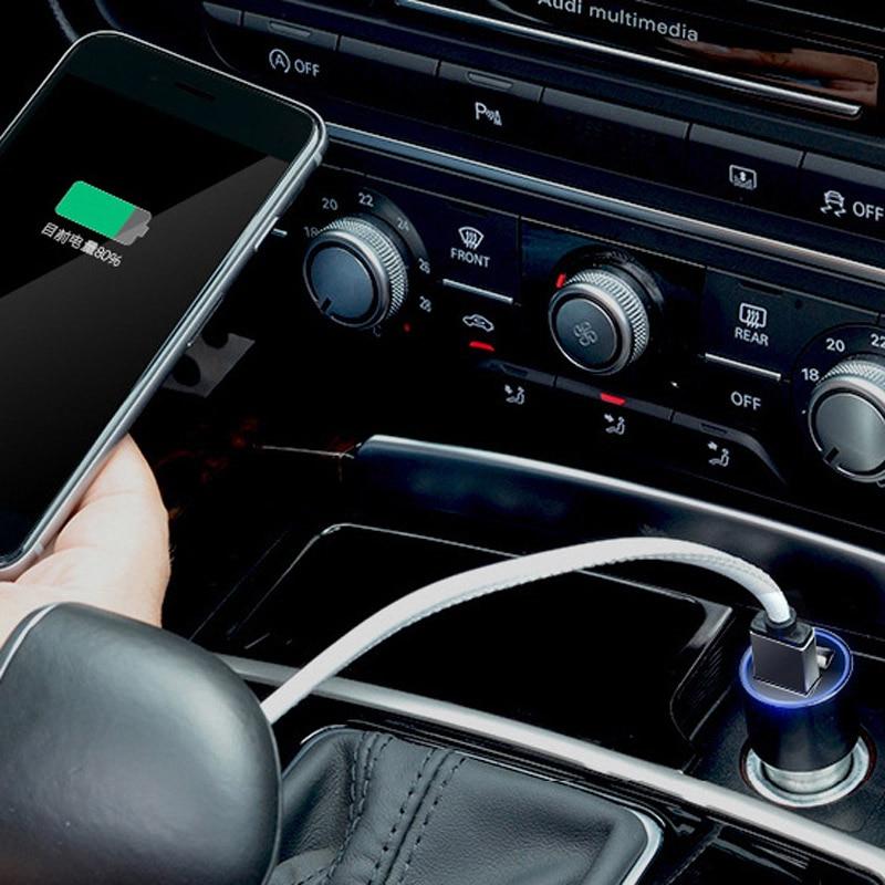 IPhone 8 X üçün DCAE Cüt USB Metal Avtomobil - Cib telefonu aksesuarları və hissələri - Fotoqrafiya 6
