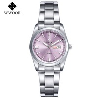 WWOOR Ladies Famous Wristwatch Female Wrist Watch Women Brand Quartz Watch Girl Quartz Watch Montre Femme
