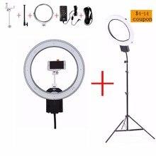 NanGuang CN-R640 19 «Фото/Видео/Студия/телефон 640 LED 5600 К Камеры Macro Ring Свет Лампы для Макияжа Фотографии С штатив Стенд