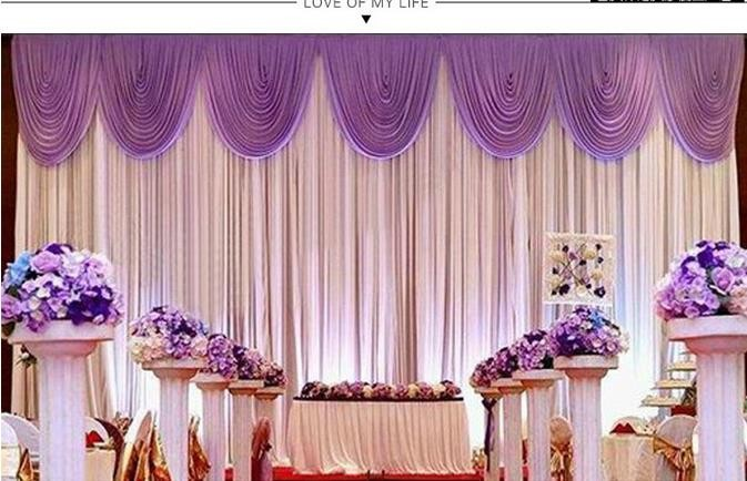 Hot sale wedding backdrop curtain high quality wedding decorations hot sale wedding backdrop curtain high quality wedding decorations 6m3m background scene wedding decor supplies in party diy decorations from home junglespirit Choice Image