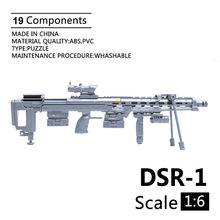 1:6 Scale DSR-1 Blood Hawk Sniper Rifle Assemble Gun Model Plastic Action Figures Weapon For 1/6 Soldier Military Building Toy(China)