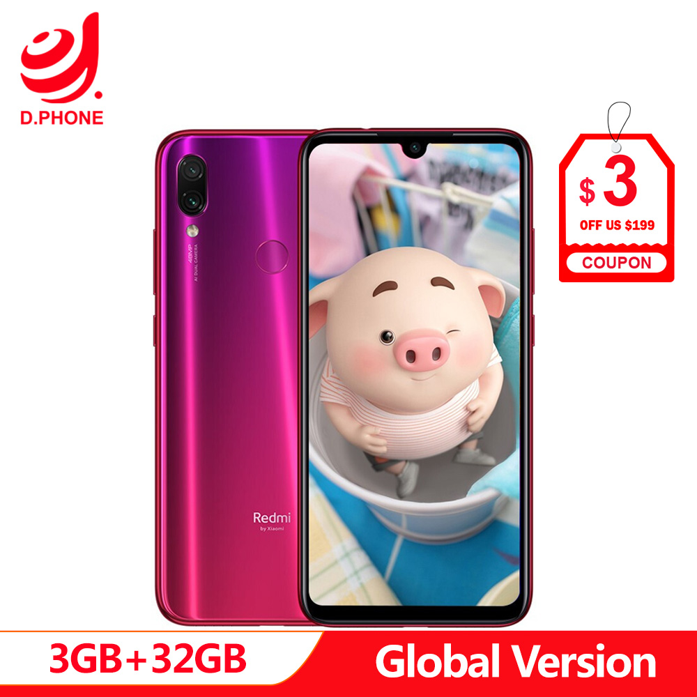 Global Versão xiaomi Redmi Nota 7 32 3 GB de RAM GB ROM celular Snapdragon 660 Núcleo octa 6.3