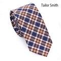 Портной смит мода свободного покроя шотландка стиль ну вечеринку тонкие галстуки ручной работы из 100% хлопка дизайнер плед проверить галстук бизнес Cravate