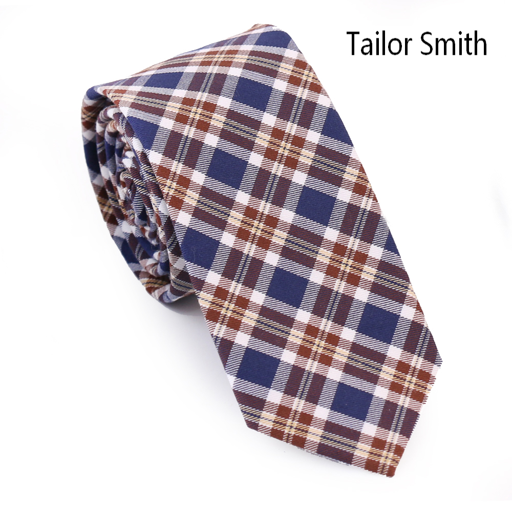 Tailor Smith Fashion Casual font b Tartan b font Style Party Slim Ties Hand Made 100