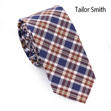Tailor Smith Fashion Casual Tartan Style Party Slim Ties Hand Made 100% Cotton Designer Plaid Check Necktie Business Cravate