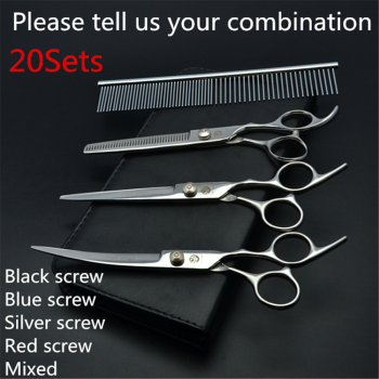 20Sets Suit 6.0'' Japan Purple Dragon Grooming-for-dog Pets Hair Scissors Comb+Cutting+Thinning Scis