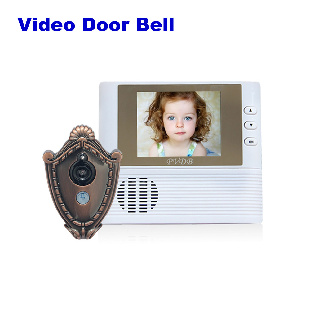 DONPHIA Color Video Doorbell Peephole 2.8 inch LCD Jingle Bell Video Intercom Door phone System with IR Night Vision Take Photo homefong 4 inch monitor lcd color video record door phone doorbell intercom system night vision 1200tvl high resolution