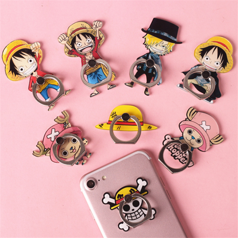 UVR  Mobile Phone Stand Holder Anime Finger Ring Smartphone One Piece Holder Stand For IPhone Huawei Xiaomi All Phone