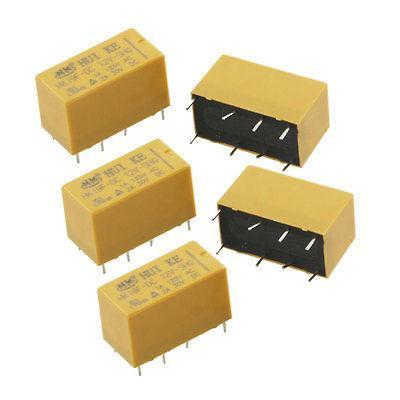 5 x DC 12V Coil 1A/125V AC 2A/30V DC 8 Pins PCB Power Relay HK19F tesys k reversing contactor 3p 3no dc lp2k1201kd lp2 k1201kd 12a 100vdc lp2k1201ld lp2 k1201ld 12a 200vdc coil